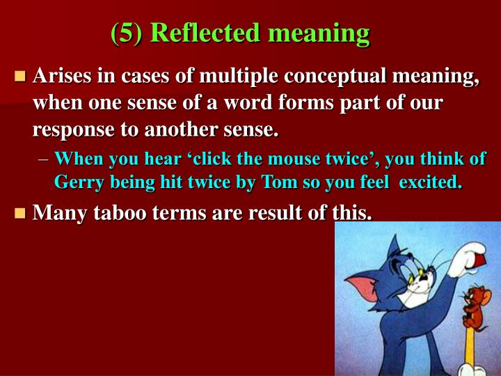 (5) Reflected meaning