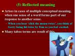 5 reflected meaning