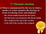 7 thematic meaning