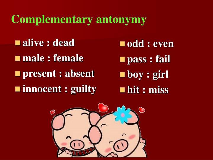Complementary antonymy