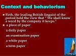 context and behaviorism1