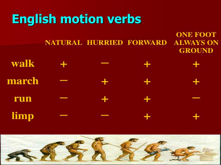 English motion verbs
