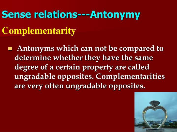 Sense relations---Antonymy