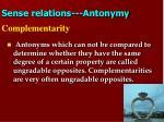 sense relations antonymy