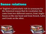 sense relations7