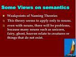 some views on semantics1