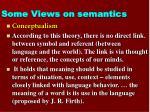 some views on semantics2