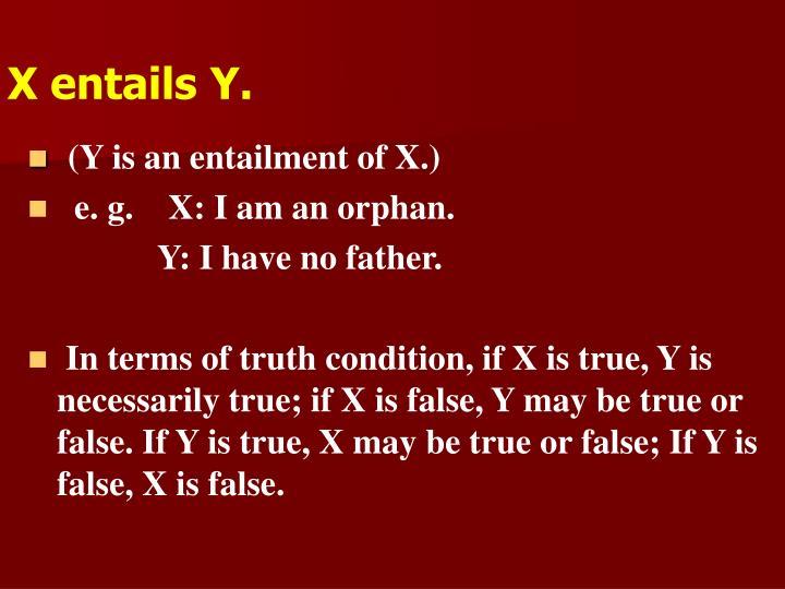 X entails Y.