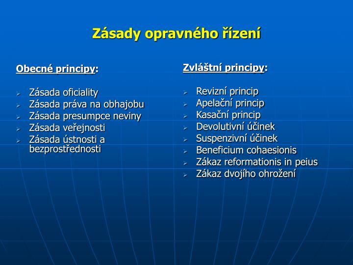 Obecné principy