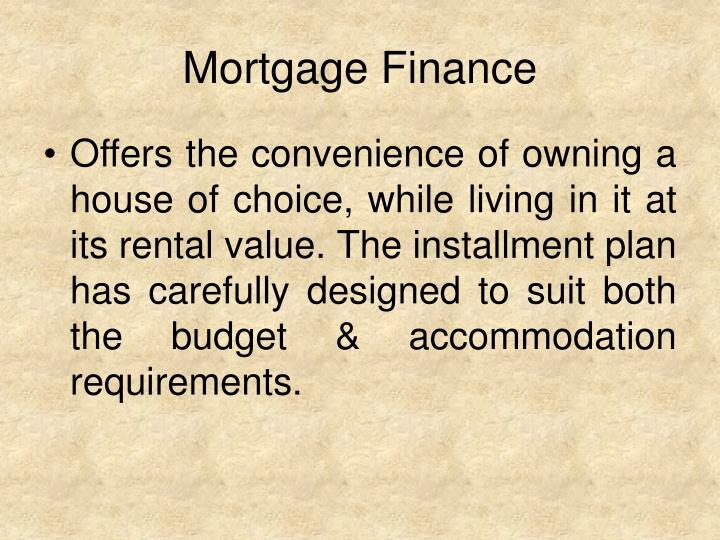 Mortgage Finance