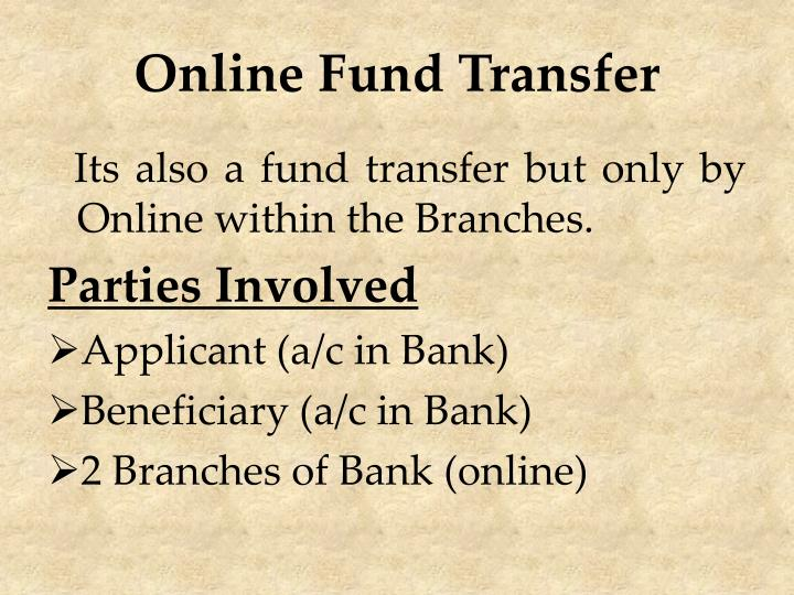 Online Fund Transfer