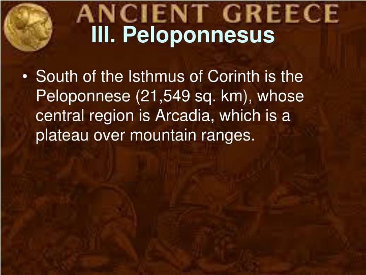 III. Peloponnesus