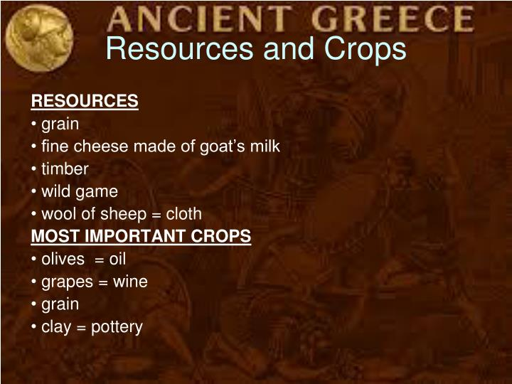 Resources and Crops