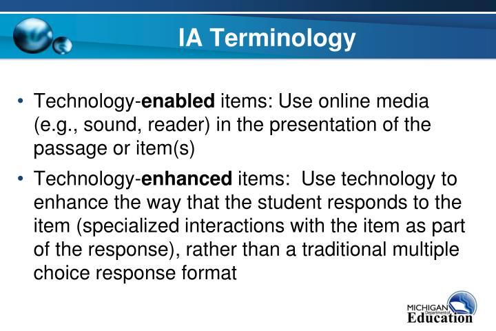 IA Terminology