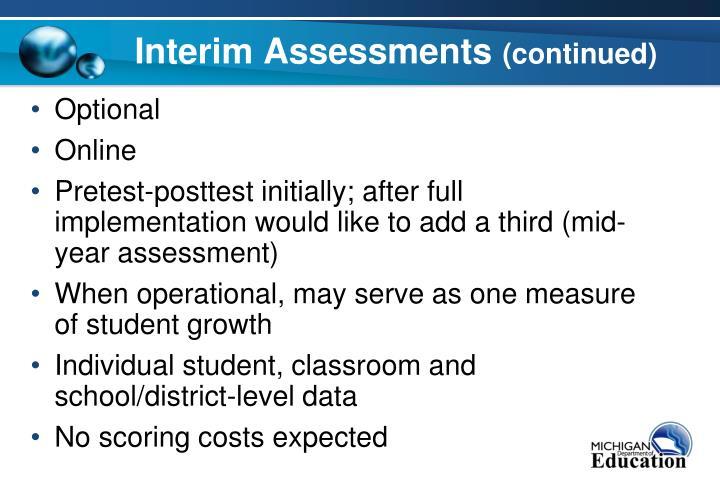 Interim Assessments