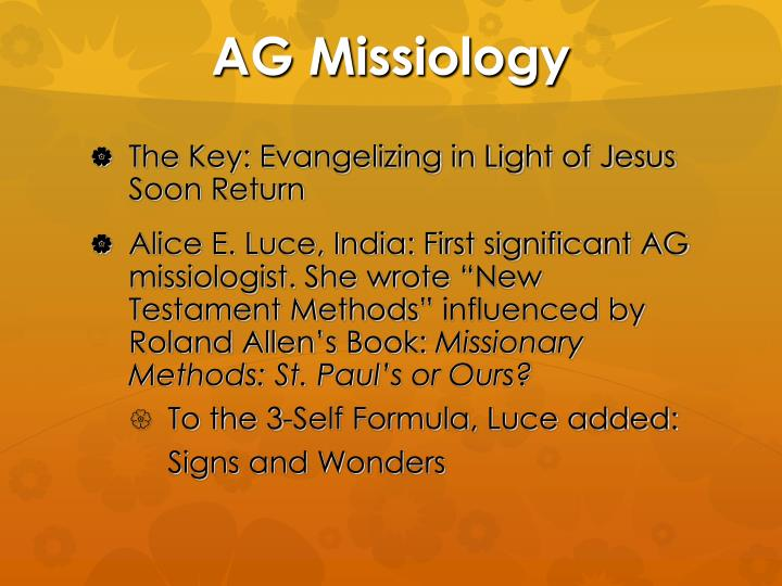 AG Missiology