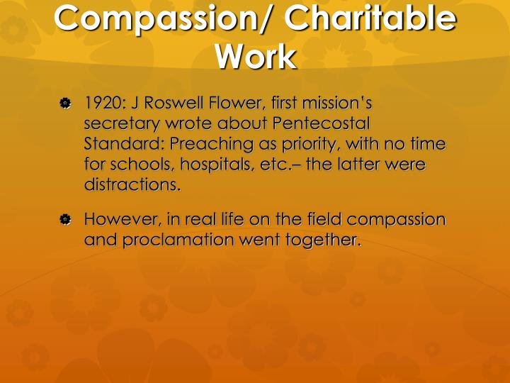 Compassion/ Charitable Work
