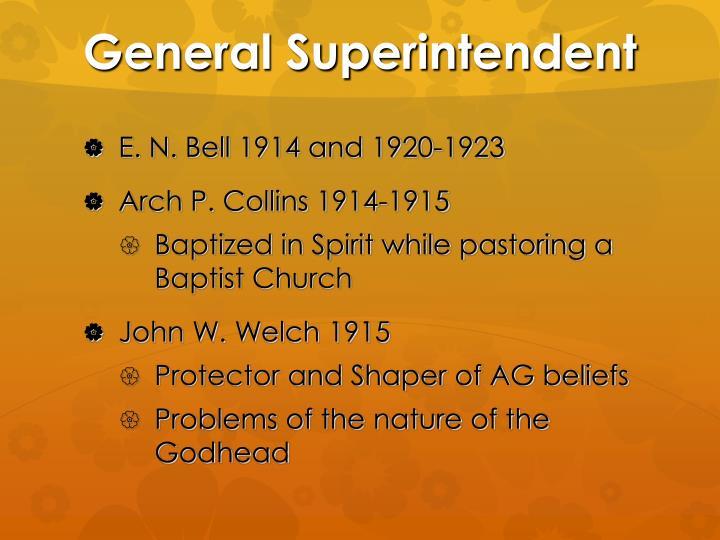 General Superintendent