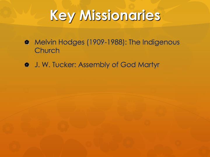 Key Missionaries