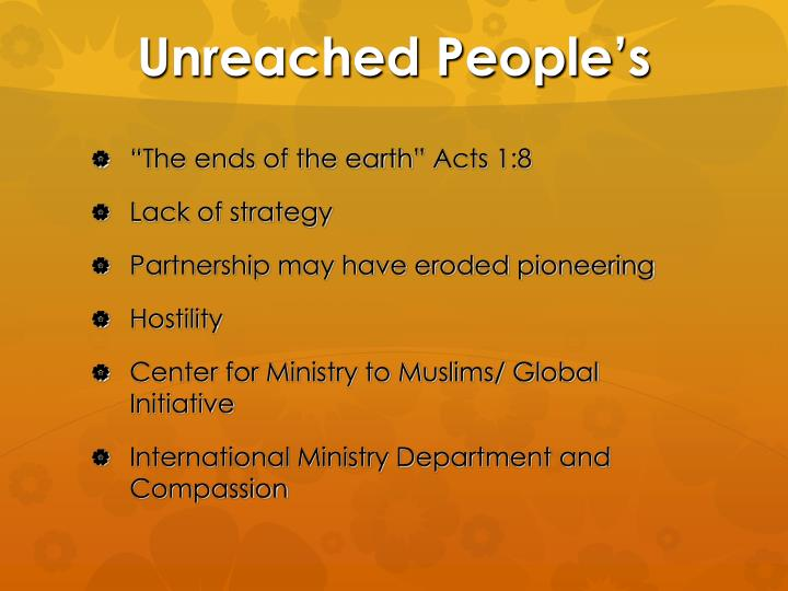 Unreached People