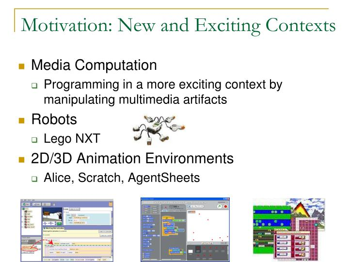 Motivation new and exciting contexts