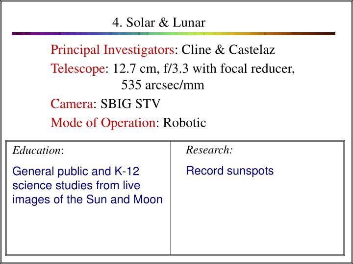 4. Solar & Lunar