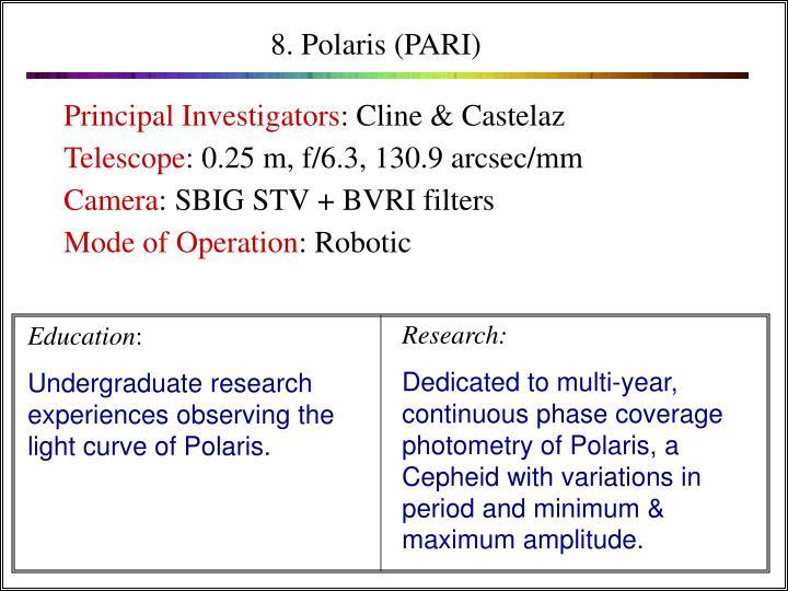 8. Polaris (PARI)