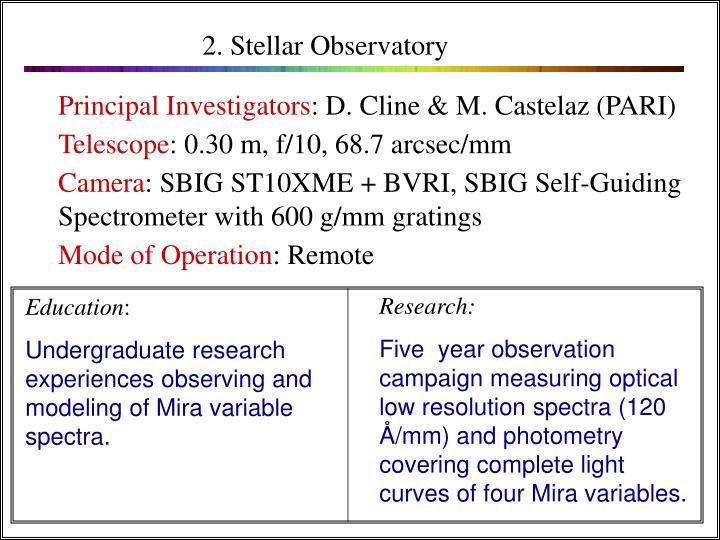 2. Stellar Observatory