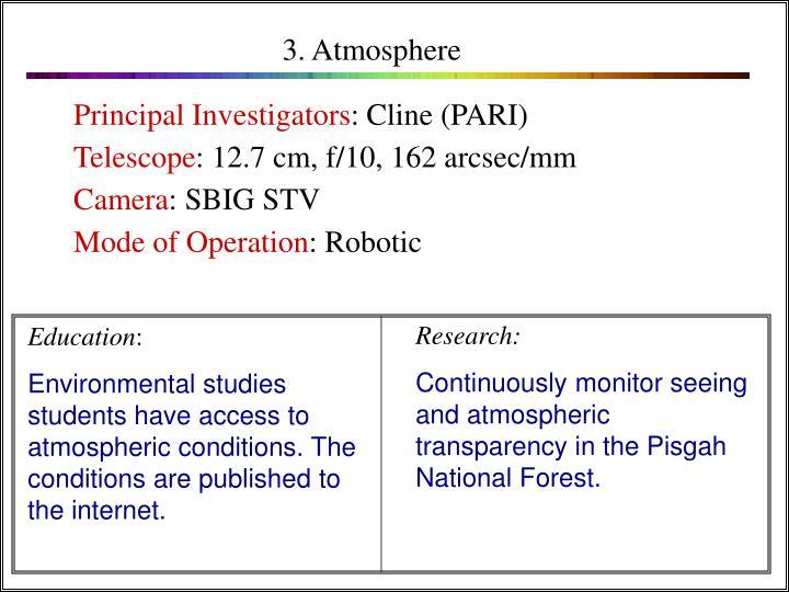 3. Atmosphere