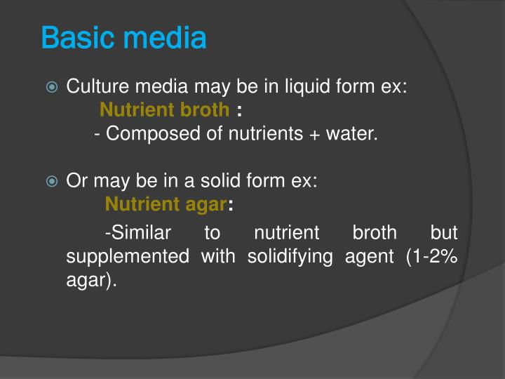 Basic media