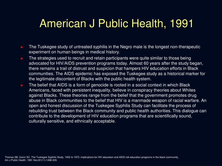 American J Public Health, 1991