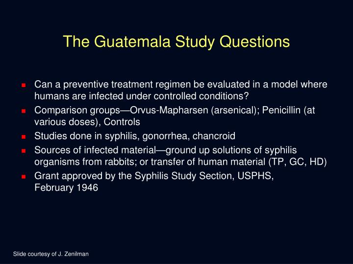 The Guatemala Study Questions