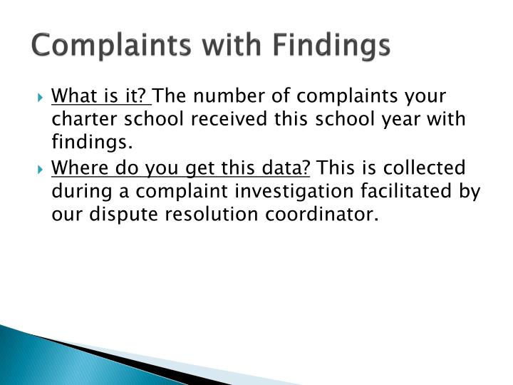Complaints with Findings