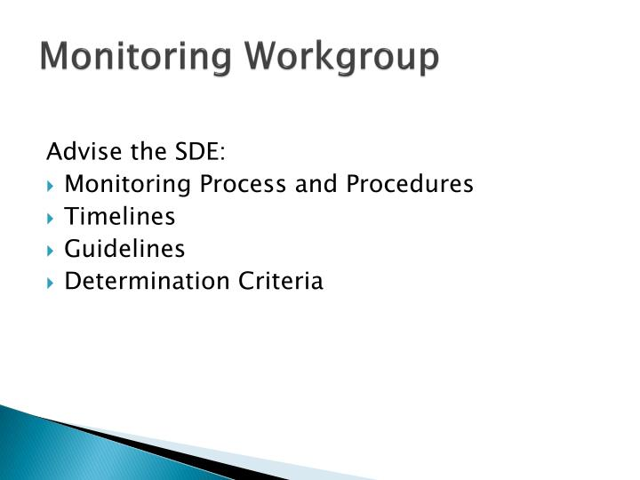 Monitoring Workgroup