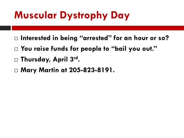 Muscular Dystrophy Day