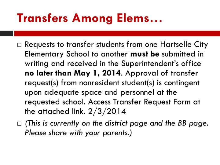 Transfers Among