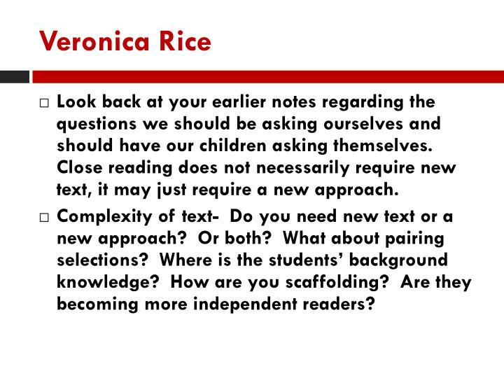 Veronica Rice