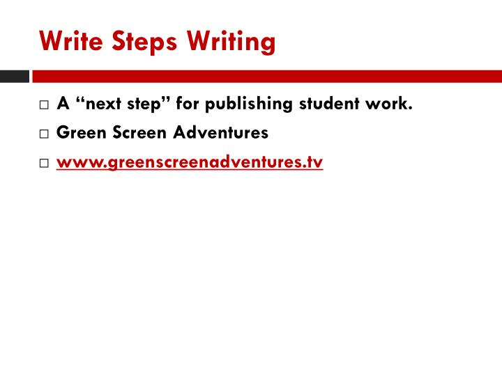 Write Steps Writing