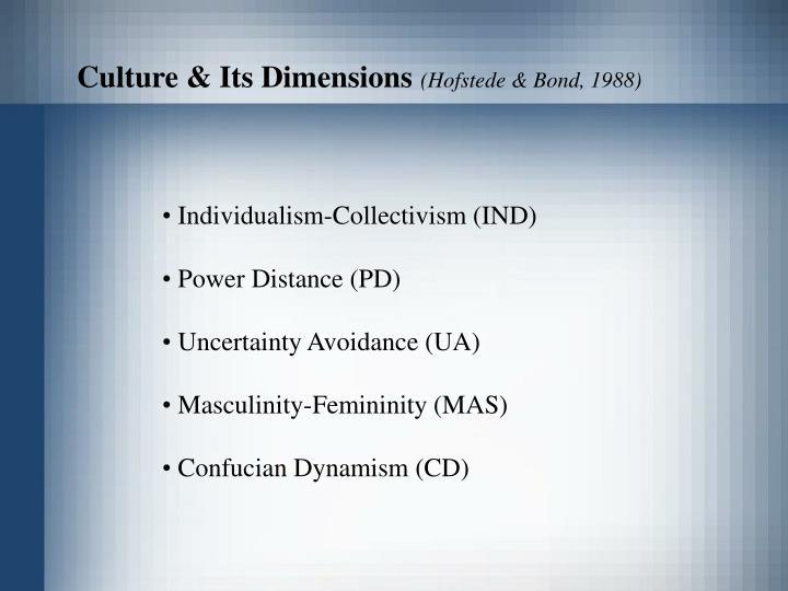 Culture & Its Dimensions