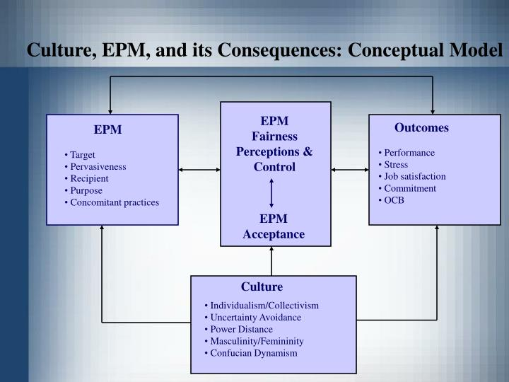 Culture, EPM, and its Consequences: Conceptual Model