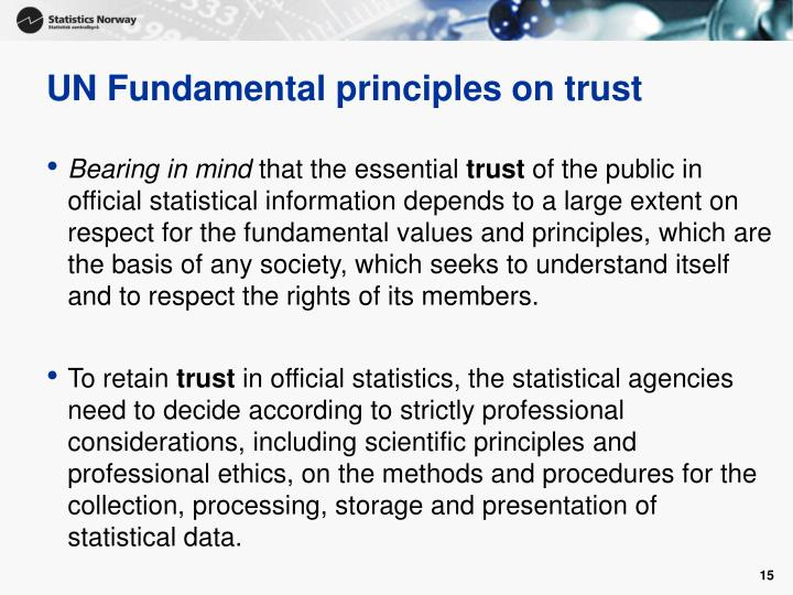 UN Fundamental principles on trust