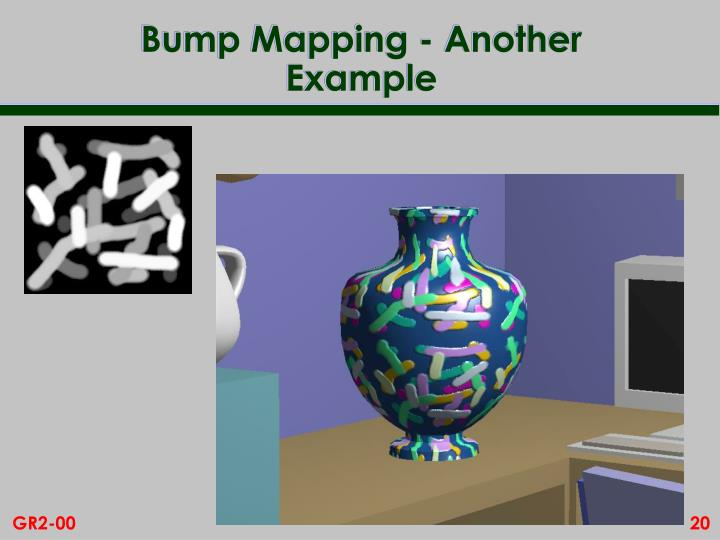 Bump Mapping - Another Example
