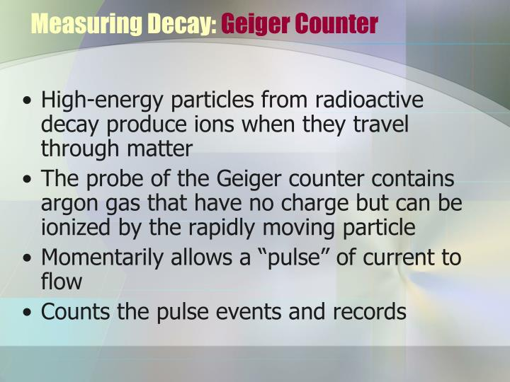 Measuring Decay: