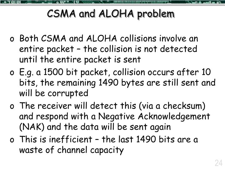 CSMA and ALOHA problem