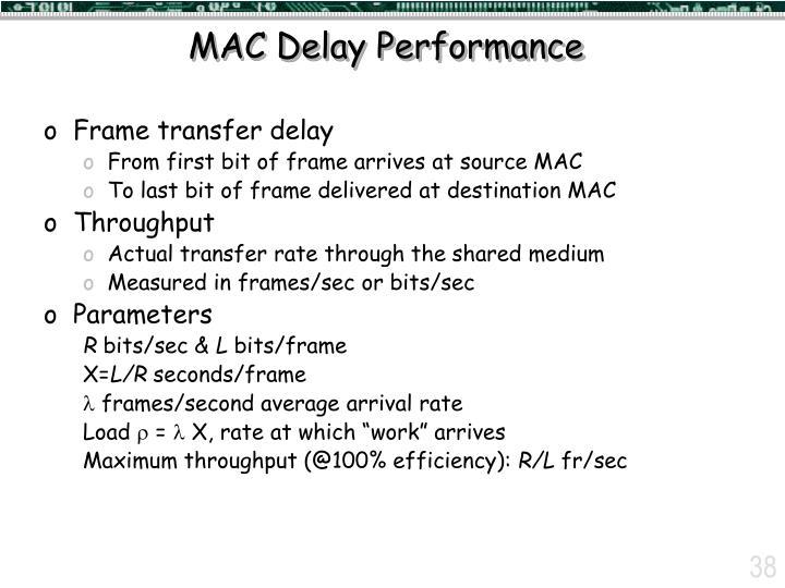 MAC Delay Performance