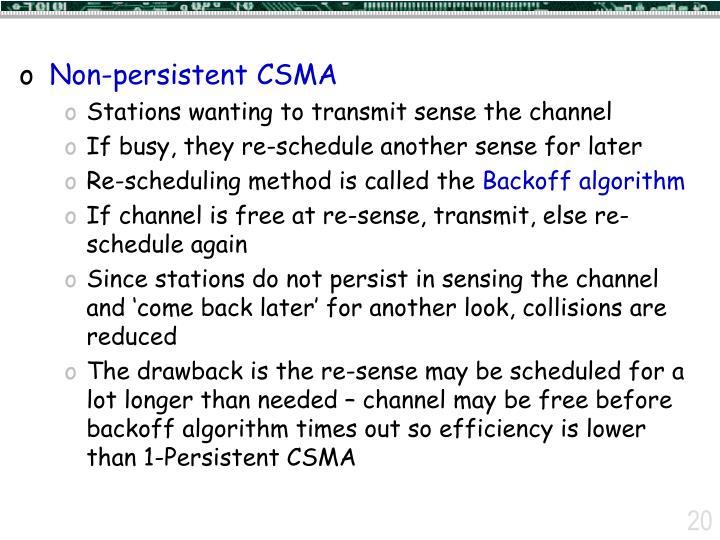 Non-persistent CSMA