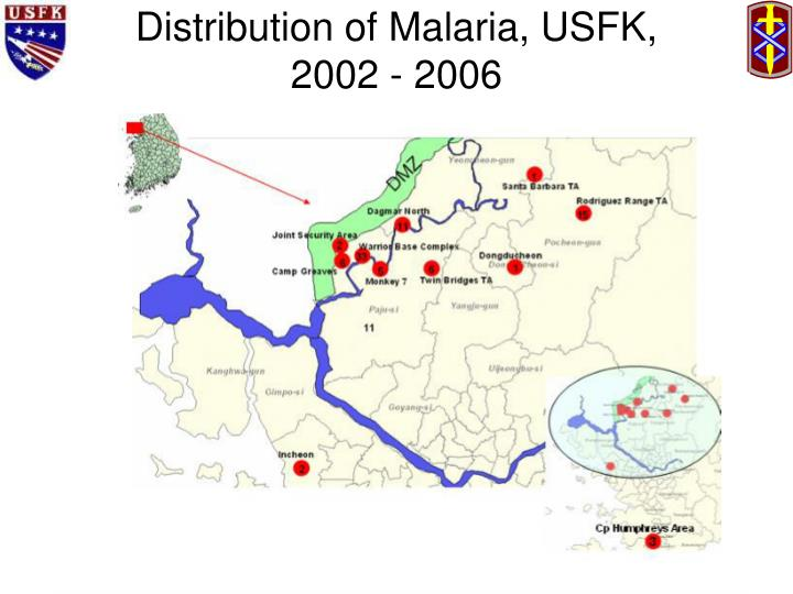 Distribution of Malaria, USFK,