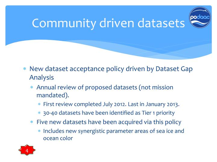 Community driven datasets