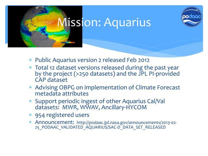 Mission: Aquarius