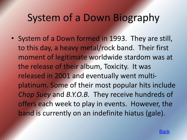 System of a Down Biography
